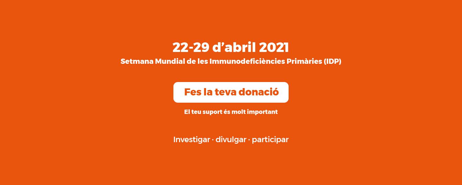 Setmana Mundial de les Immunodeficiències Primàries (IDP)