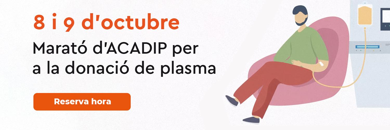 Marató d'ACADIP per a la donació de plasma